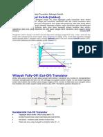 Karakteristik Dan Cara Kerja Transistor Sebagai Swicth
