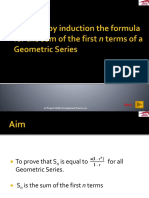 The Sum of a Geometric Sequence