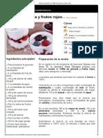 Hoja de Impresión de Triffle de Granola y Frutos Rojos