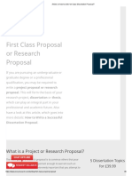 Article on How to Write 1st Class Dissertation Proposal