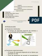 2.2 Tipos de Modelos de Toma de Decisiones Individuales y Organizacionales
