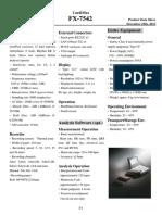 Data Teknis EKG Fukuda Denshi FX-7542
