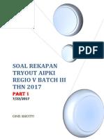 Aipki Juli 2017 Regio III