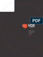 Relatório VOX de impacto social 2017