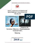 Reglamento Interno de Seguridad -Simareg 2018 Revisado