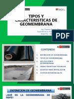 6.- Tipos y Caracteristicas de Geomembrana