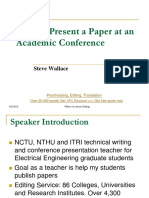 How to present  a paper at academic conference