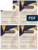 Certificado de Especialidades
