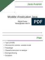 Java Avancé - Modèle d'Exécution Java