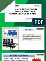Sistema de Filtrado Del Srt Por Goteo Gge El Valle