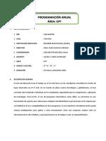 PROGRAMACION ANUAL DE EPT 4°