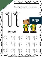 Grafomotricidad Numeros Del 11 20