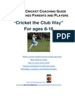 juniors cricket coaching guide