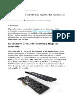 Samsung Lanza El SSD Más Rápido Del Mundo El SZ95 Z-SSD