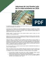 Luis Vicente León Para Enfrentar La Crisis Económica en 2016