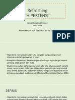 Refreshing Hipertensi