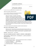 Lawebdelingles.com-Presente Simple y Presente Continuo