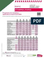 Orléans - Toury - Étampes (Paris) Du 09-04-2018