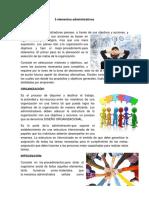 5 Elementos Administrativos