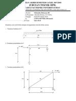 Uas Mekanika Rekayasa III 2017-2018