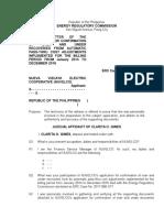 Judicial Affidavit - COG