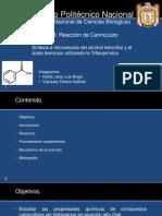 Síntesis de alcohol bencilico y ácido benzoico