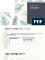 Fringe Benefit Tax Train Law