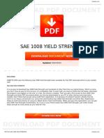 Sae 1008 Yield Strength