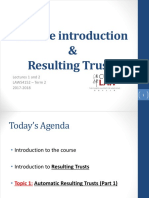 Lecture 1 & 2_Automatic Resulting Trusts