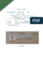 Vernier Callipher Micrometer