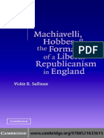 Vickie B. Sullivan Machiavelli, Hobbes, And the Formation of a Liberal Republicanism in England 2004