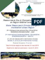 Colloque Eau Climat 2014 1