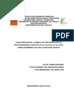 CARACTERIZACIÓN DE  LA SEMILLA DE PORTAINJERTO DE LOS FRUTOS MANDARINA CLEOPATRA (Citrus reshni Hort. Ex Tan.) EN EL CAMPO EXPERIMENTAL DEL INIA- PLANTA SEDE YARACUY