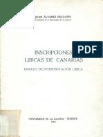 Inscripciones Lbicas de Canarias Ensayo de Interpretacin Lbica