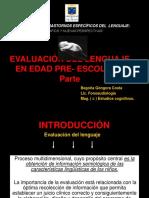 Evaluacion Del Lenguaje en Ninos Preescolares i Parte