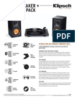 R-15pm & Pro-ject Primary Turntable Spec Sheet