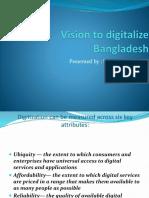 Vision to Digitalize Bangladesh