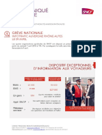 Trafic SNCF Auvergne Rhône-Alpes le 09/04/2018