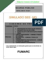2º Simulado Preparatório Fumarc See-mg