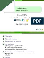 Java Avance - Gestion de Processus