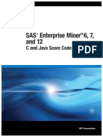SAS Enterprise Miner 6, 7 and 12 - C and Java Score Code Basics