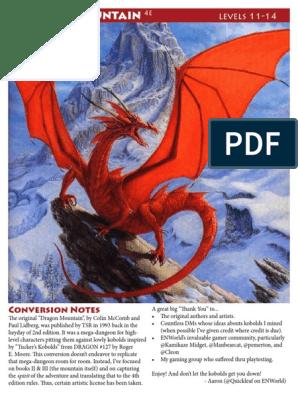 Dragon Mountain 4e pdf | Nature | Leisure