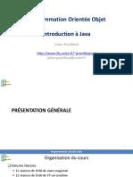 Programmation Orientée Objet - Introduction à Java