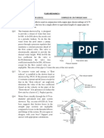 Fluid Mechanics Minor Problem Sheet