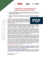 Ndp - 31-05-2017 Banco Santander e Indra Premiaran a La Tecnologia Ma