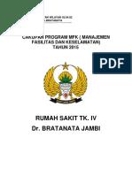 Cakupan Cover Program Mfk Tahun 2015