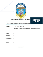 Informe Psicologico Del Tes Betaiii y Figura Huamana de Karen Machover Observaciom de Comducta
