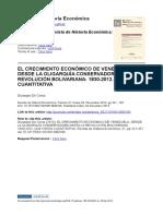El Crecimiento Económico de Venezuela