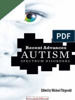 Autism Spectrum Disorder Recent Advances