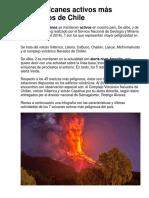 Los 7 Volcanes Activos Más Peligrosos de Chile